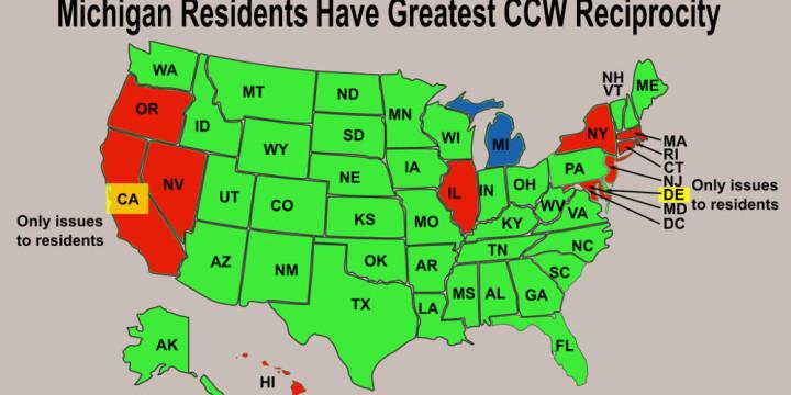 MI resident greatest CCW reciprocity
