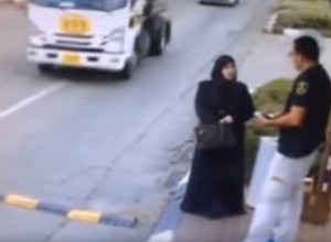 [VIDEO] GUNS SAVE LIVES: Female Terrorist Tries To Kill Security Guard By Bringing A Knife To A Gunfight. She Didn't Win.