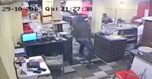 [VIDEO] Gunfight In Brazilian Pizzeria — Good Intentions Don't Count When Bullets Fly