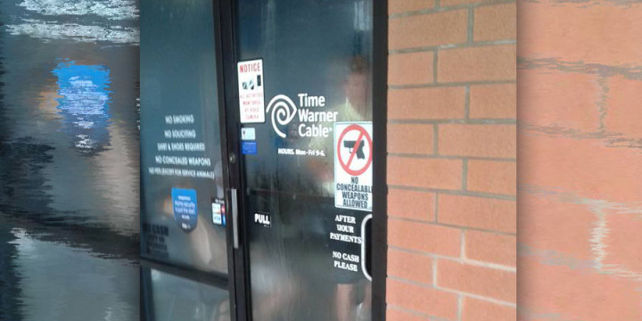 Time warner cable gun free zone no concealed firearms