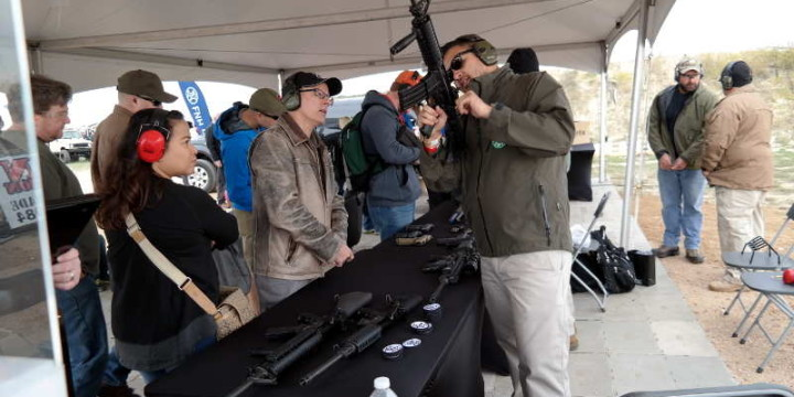 FNH booth Texas Firearms Festival Austin Texas