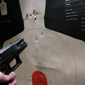 Glock 36 Test Fire 30 feet 10 rounds