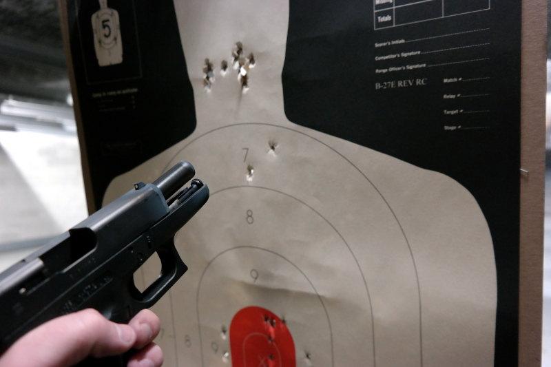 Glock 36 Test Fire 30 feet 10 rounds