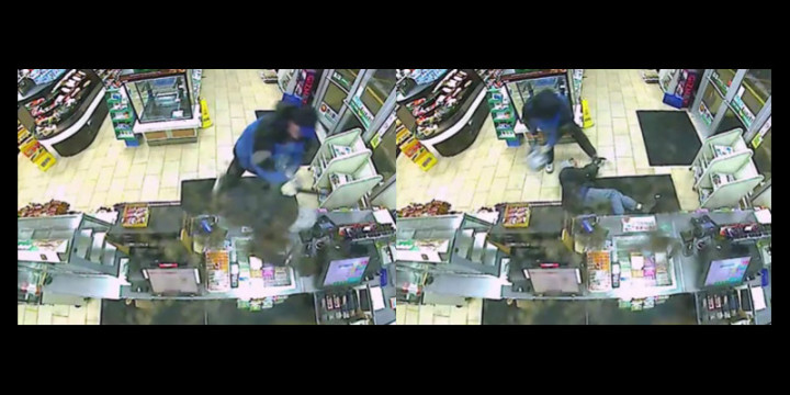 Ny beats up armed robber