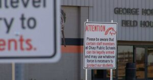 School In Oklahoma Puts Up Sign Warning Of Armed Staff