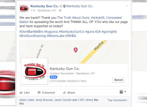 Facebook To Kentucky Gun Company: JK, You're Back! I Spoke With The Owner, Who Now Has A Few More Gray Hairs