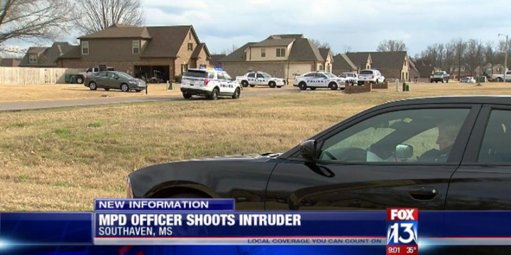 Memphis off duty police officer 2 kids defensive gun use