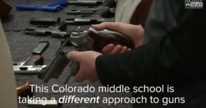 "[VIDEO] Colorado Middle School Teaches Students About Guns; ""I think that it's better for them to have a respect for it."""