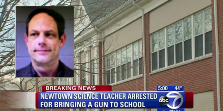 Newtown teacher arrested after carrying concealed into classroom