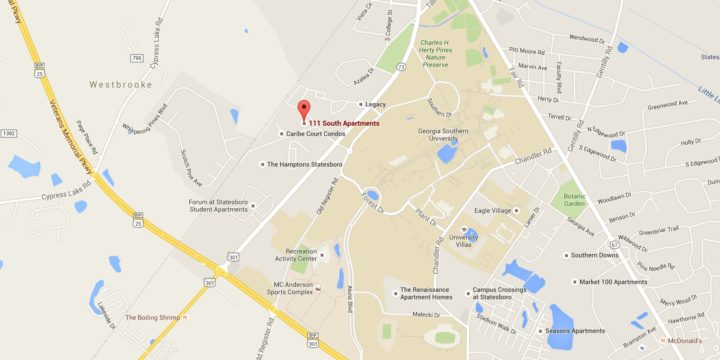 Map Of Georgia Southern.Oh The Irony Armed Robbery Occurs 400 Ft From Georgia Southern