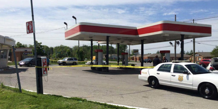 Armed robbery gas station