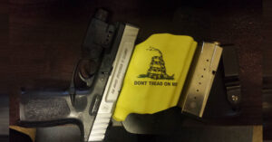 #DIGTHERIG – Dustin and his S&W SD40VE in a White Hat Holster