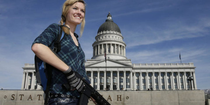 Gun Rights Ralley in Utah 640x419
