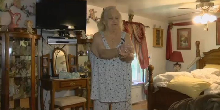 Elderly woman fights off intruders