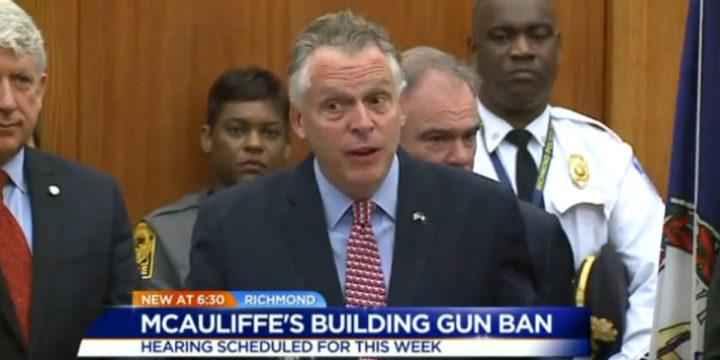 Mcauliffe gun ban