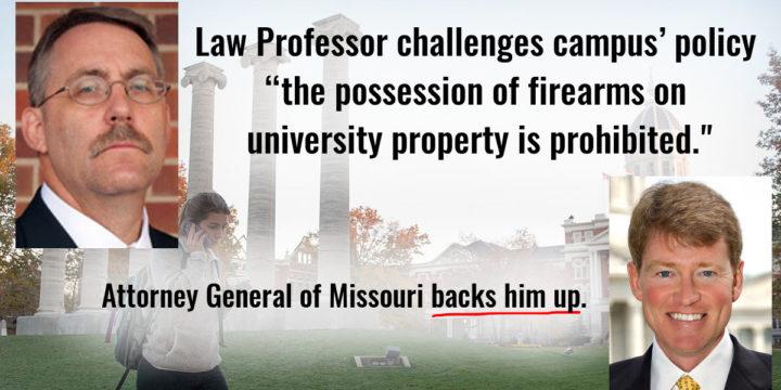 University of missouri prohibits firearms