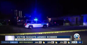 Armed Robber Tried To Mug Three Dudes Grilling Out In The Front Yard… Never Getting Invited To Anyone's Barbecue Now.