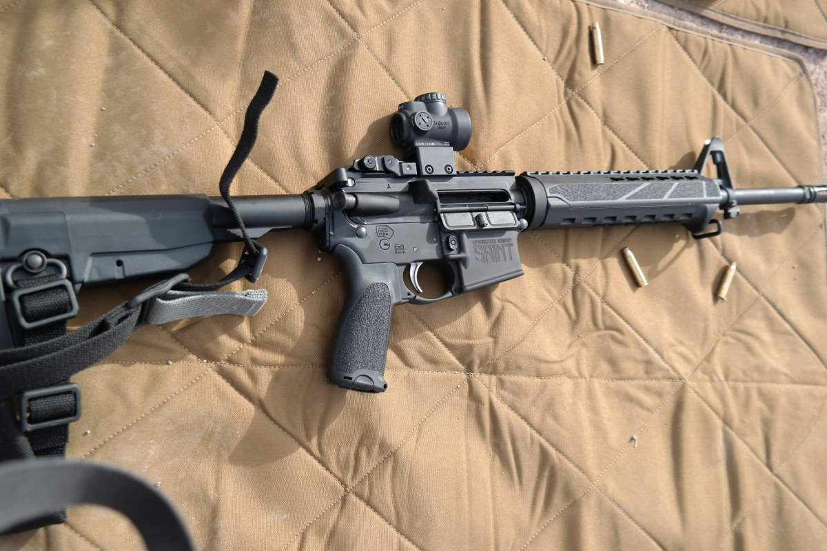 Springfield Armory SAINT AR-15 w/ optional Trijicon red dot optics