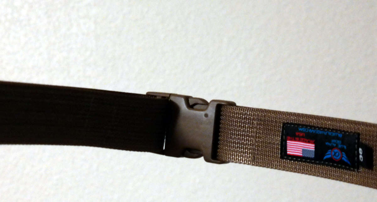 blue alpha gear SR buckle long view