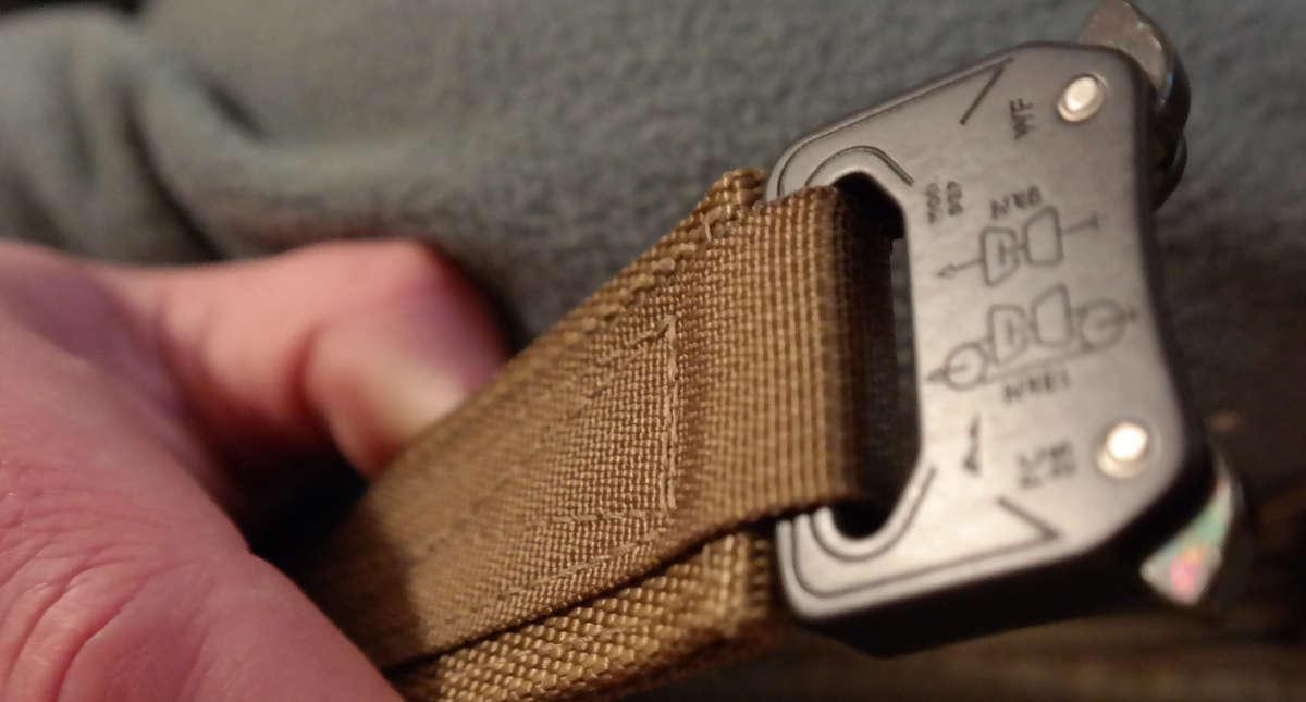 Cobra buckle clasp closeup