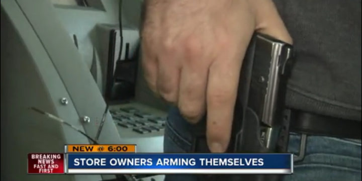 Las vegas store owners arm up