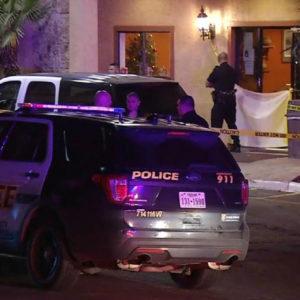 Police outside hotel