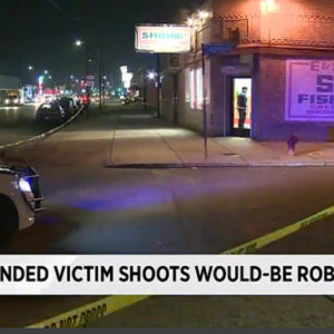 Detroit michigan intended victim shot armed robber