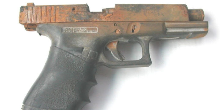 How to clean rust from handguns