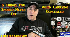 [VIDEO] 5 Things You Should Never Do When Carrying Concealed