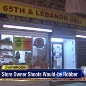 Philadelphia store owner shoots armed robber