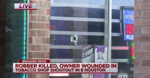 Armed Robbery turns Shootout, Clerk Injured but Alive