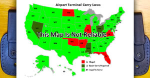 Airport Terminal Carry Maps Aren't Always Reliable, And Could Get You Arrested