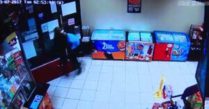 [VIDEO] Armed Security Guard Gets Complacent — Almost Pays For It With His Life