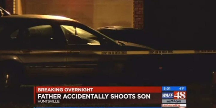 Huntsville alabama father shoots son