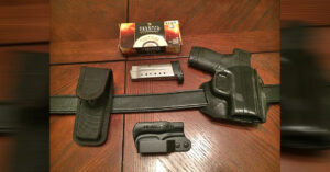 #DIGTHERIG – John and his Smith and Wesson M&P Shield in a Q Series Stealth & Bianchi Holster