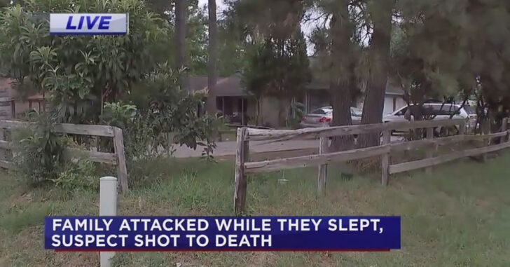 Random Attack: Nearly Naked Intruder Violently Attacks Family, Is Shot And Killed By Armed Occupant