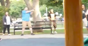 [VIDEO] Armed Citizen Draws Gun During Fight At Park