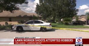 Lawn Care + Guns = Thwarted Robbery Attempt