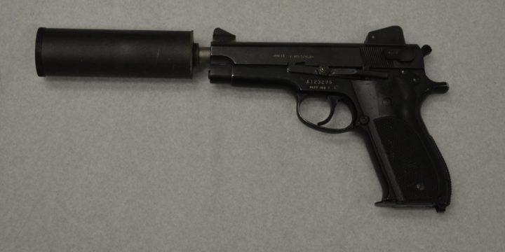 Suppressed pistol mk22