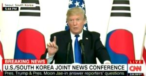 "While In South Korea, President Trump Is Asked If He Supports ""EXTREME VETTING"" For Firearm Purchases"