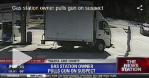 Gas Station Owner Pulls Gun On Man With Skimmer