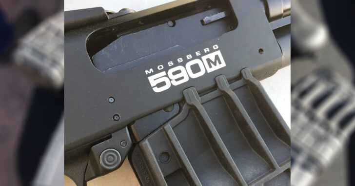Introducing the Mossberg 590M™ Mag-Fed 12-gauge shotgun, built on Mossberg's legendary pump-action, tactical platform combined with the world's first double-stack, 10-round shotgun magazine; with optional 5, 10, 15 and 20-round capacity magazines sold as accessories. The 590M is initially available in two 10-round configurations; ideal for home security, tactical and competitive applications. Based upon Mossberg's proven pump-action platform, standard features of the 590M include non-binding twin action bars; positive steel-to-steel lock-up; anti-jam elevator; dual extractors; anodized aluminum receiver drilled and tapped for convenience of adding optics; heavy-walled barrel; convenient cleanout magazine tube; and universally-recognized, ambidextrous top-mounted safety. With the included 10-round magazine, these 12-gauge 2.75-inch pump-actions have a total round capacity of 10+1.