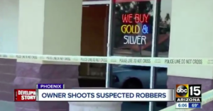 Phoenix Coin Store Owner Shoots Robber Holds Him And Accomplice for Cops