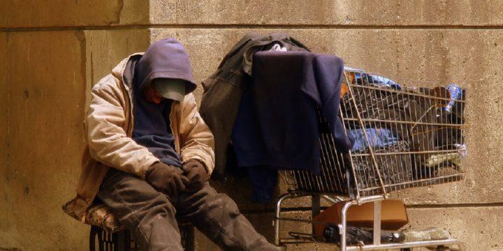Stock homeless man