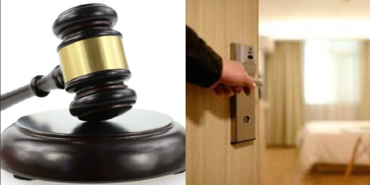 Gavel and open door