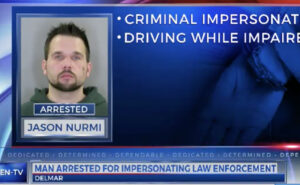 Police found a 2012 black Buick, owned by Jason Nurmi, 33, of North Greenbush. Nurma displayed a badge to Bethlehem Police Officers and informed them that he was an investigator with the state task force. Further, the investigation showed that Nurmi was in possession of a loaded firearm and his car was equipped with flashing red and blue lights. He was determined to be under the influence of drugs at the time of the crash.
