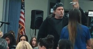 Watch This Parent Pull Out A Knife During A PTA Meeting To Prove His Point