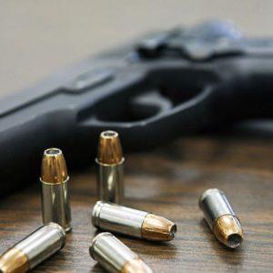 Sidearm on table