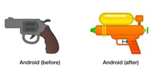 Google Replacing It's Gun Emoji To Squirt Gun
