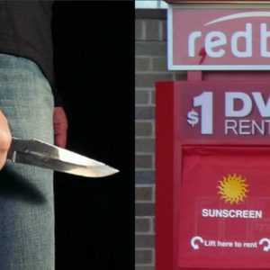 Knife and redbox